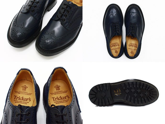 Tricker's Tricker's for EHS / Two Tone Derby Brogues - Navy M7292<img class='new_mark_img2' src='//img.shop-pro.jp/img/new/icons47.gif' style='border:none;display:inline;margin:0px;padding:0px;width:auto;' /> 02