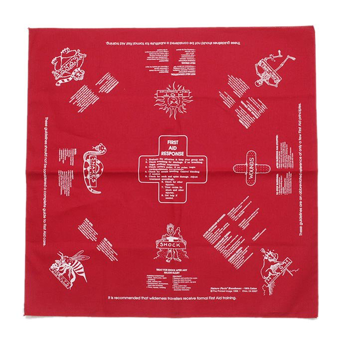 Other Brands The Printed Image / Nature Facts Bandanas - First Aid(ブリンテッドイメージ/ネイチャープリントバンダナ ファーストエイド) <img class='new_mark_img2' src='//img.shop-pro.jp/img/new/icons47.gif' style='border:none;display:inline;margin:0px;padding:0px;width:auto;' /> 01