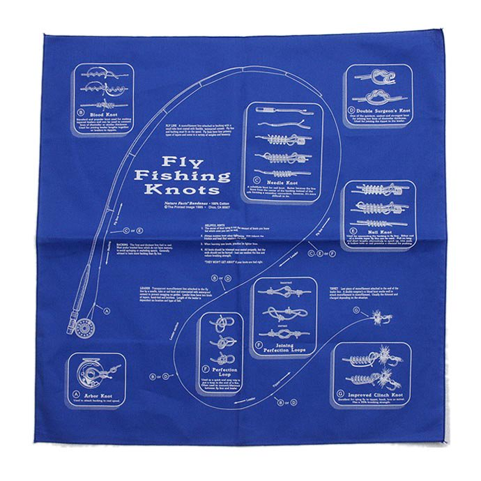 Other Brands The Printed Image / Nature Facts Bandanas - Fly Fishing Knots ブリンテッドイメージ/ネイチャープリントバンダナ<img class='new_mark_img2' src='//img.shop-pro.jp/img/new/icons47.gif' style='border:none;display:inline;margin:0px;padding:0px;width:auto;' /> 01