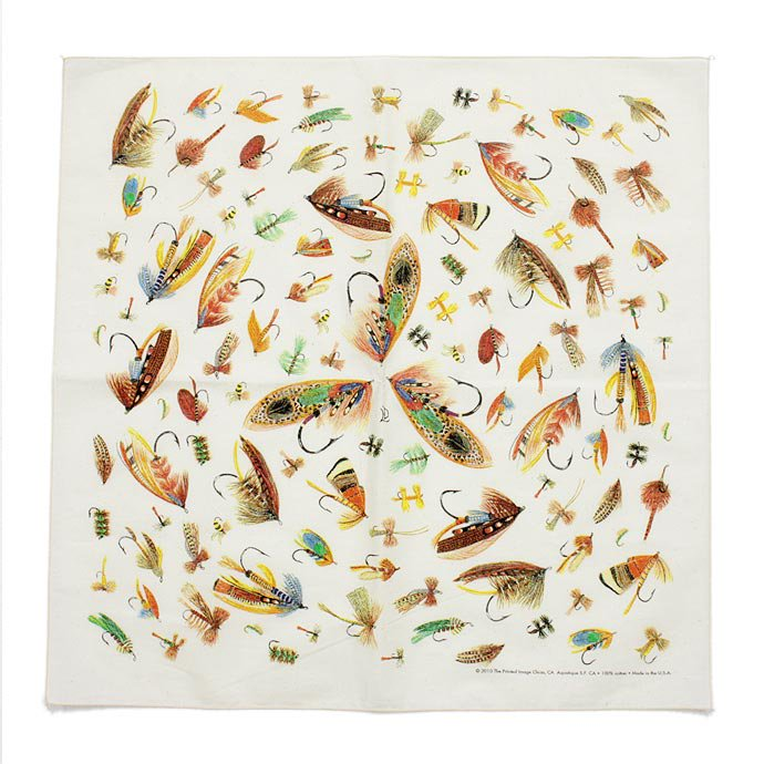 Other Brands The Printed Image / Nature Facts Bandanas - Fly Fishing Hooks(ブリンテッドイメージ/ネイチャープリントバンダナ フライ)<img class='new_mark_img2' src='//img.shop-pro.jp/img/new/icons47.gif' style='border:none;display:inline;margin:0px;padding:0px;width:auto;' /> 01