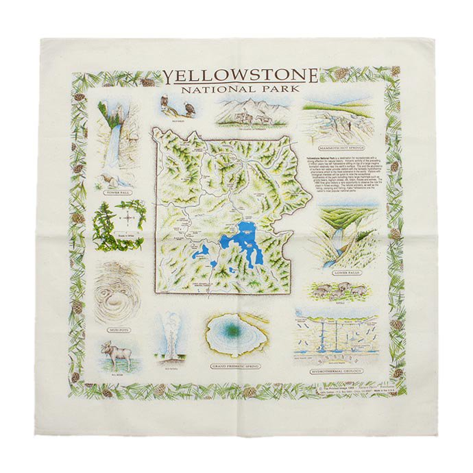 Other Brands The Printed Image / Nature Facts Bandanas - Yellowstone National Park ブリンテッドイメージ/ネイチャープリントバンダナ<img class='new_mark_img2' src='//img.shop-pro.jp/img/new/icons47.gif' style='border:none;display:inline;margin:0px;padding:0px;width:auto;' /> 01