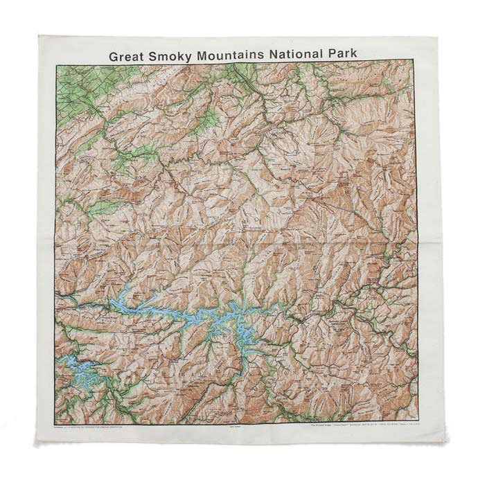 Other Brands The Printed Image / Nature Facts Bandanas - Great Smoky Topographical Map ブリンテッドイメージ/ネイチャープリントバンダナ<img class='new_mark_img2' src='//img.shop-pro.jp/img/new/icons47.gif' style='border:none;display:inline;margin:0px;padding:0px;width:auto;' /> 01