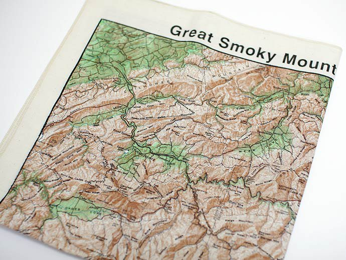 Other Brands The Printed Image / Nature Facts Bandanas - Great Smoky Topographical Map ブリンテッドイメージ/ネイチャープリントバンダナ<img class='new_mark_img2' src='//img.shop-pro.jp/img/new/icons47.gif' style='border:none;display:inline;margin:0px;padding:0px;width:auto;' /> 02