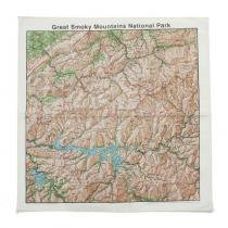 Other Brands The Printed Image / Nature Facts Bandanas - Great Smoky Topographical Map ブリンテッドイメージ/ネイチャープリントバンダナ