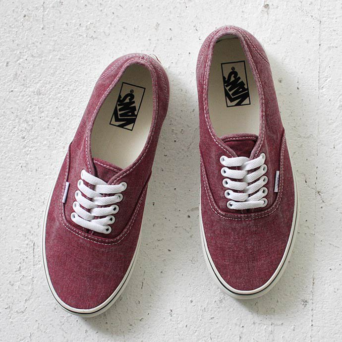 VANS Washed Authentic - Rio Red<img class='new_mark_img2' src='//img.shop-pro.jp/img/new/icons47.gif' style='border:none;display:inline;margin:0px;padding:0px;width:auto;' /> 01