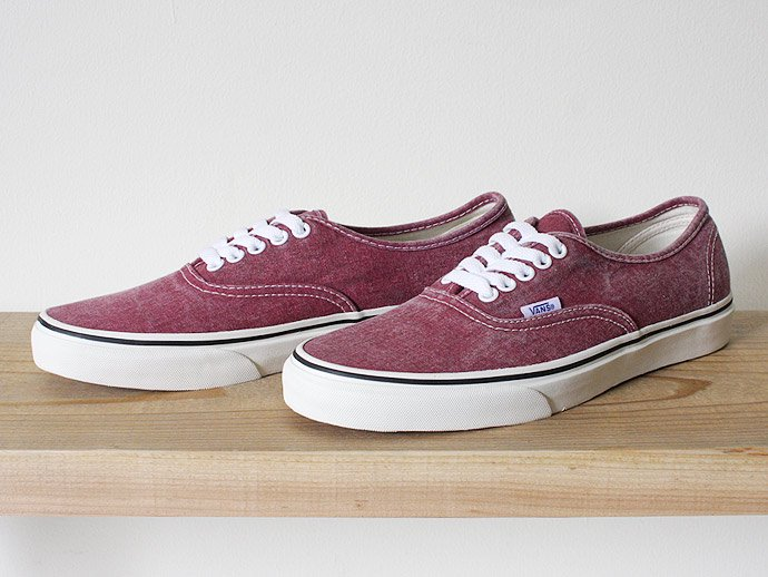 VANS Washed Authentic - Rio Red<img class='new_mark_img2' src='//img.shop-pro.jp/img/new/icons47.gif' style='border:none;display:inline;margin:0px;padding:0px;width:auto;' /> 02