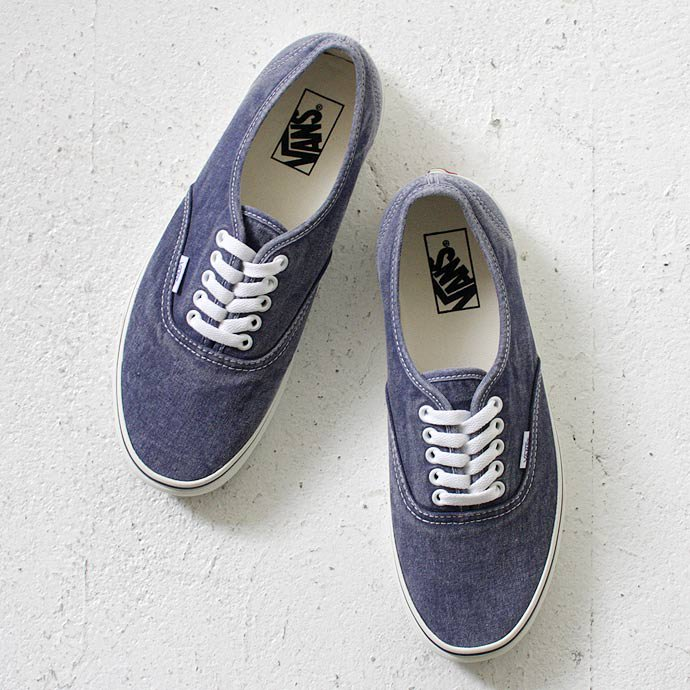VANS Washed Authentic - Medieval Blue<img class='new_mark_img2' src='//img.shop-pro.jp/img/new/icons47.gif' style='border:none;display:inline;margin:0px;padding:0px;width:auto;' /> 01