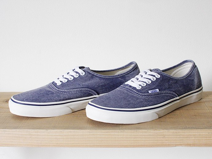 VANS Washed Authentic - Medieval Blue<img class='new_mark_img2' src='//img.shop-pro.jp/img/new/icons47.gif' style='border:none;display:inline;margin:0px;padding:0px;width:auto;' /> 02