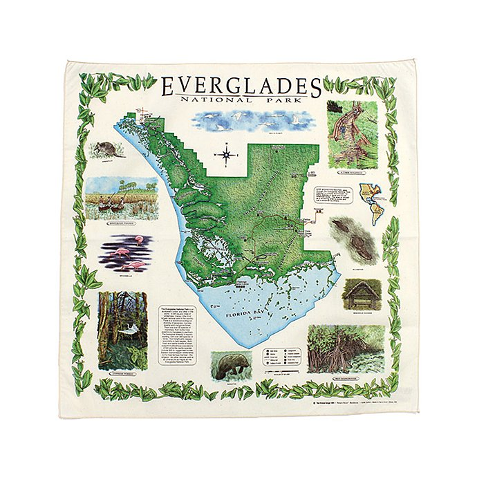 45501793 The Printed Image / Nature Facts Bandanas - Everglades National Park ブリンテッドイメージ/ネイチャープリントバンダナ<img class='new_mark_img2' src='//img.shop-pro.jp/img/new/icons47.gif' style='border:none;display:inline;margin:0px;padding:0px;width:auto;' /> 01