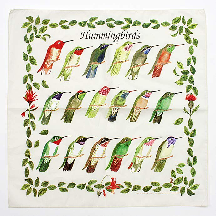 45502311 The Printed Image / Nature Facts Bandanas - Hummingbirds ブリンテッドイメージ/ネイチャープリントバンダナ<img class='new_mark_img2' src='//img.shop-pro.jp/img/new/icons47.gif' style='border:none;display:inline;margin:0px;padding:0px;width:auto;' /> 01