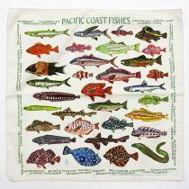 Other Brands The Printed Image / Nature Facts Bandanas - Pacific Coast Fishes ブリンテッドイメージ/ネイチャープリントバンダナ