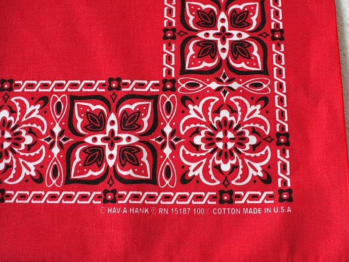 Other Brands HAV-A-HANK / Open Center Bandana - Red(ハバハンク オープンセンターバンダナ レッド)<img class='new_mark_img2' src='//img.shop-pro.jp/img/new/icons47.gif' style='border:none;display:inline;margin:0px;padding:0px;width:auto;' /> 02