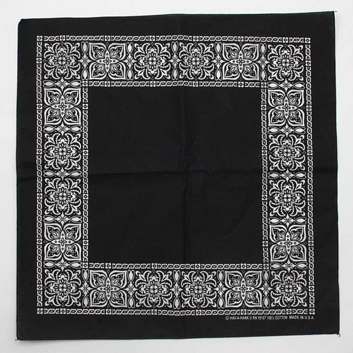 Other Brands HAV-A-HANK / Open Center Bandana - Black(ハバハンク オープンセンターバンダナ ブラック) <img class='new_mark_img2' src='//img.shop-pro.jp/img/new/icons47.gif' style='border:none;display:inline;margin:0px;padding:0px;width:auto;' /> 01