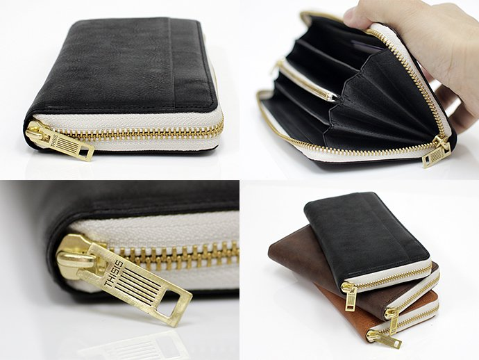 46802924 This is... / Round Fastener Wallet - Black Bridle Leather<img class='new_mark_img2' src='//img.shop-pro.jp/img/new/icons47.gif' style='border:none;display:inline;margin:0px;padding:0px;width:auto;' /> 02