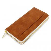 This is... Round Fastener Wallet - Brown Bridle Leather