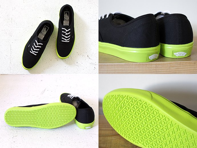 VANS Authentic Lite - Black/Neon Yellow<img class='new_mark_img2' src='//img.shop-pro.jp/img/new/icons47.gif' style='border:none;display:inline;margin:0px;padding:0px;width:auto;' /> 02