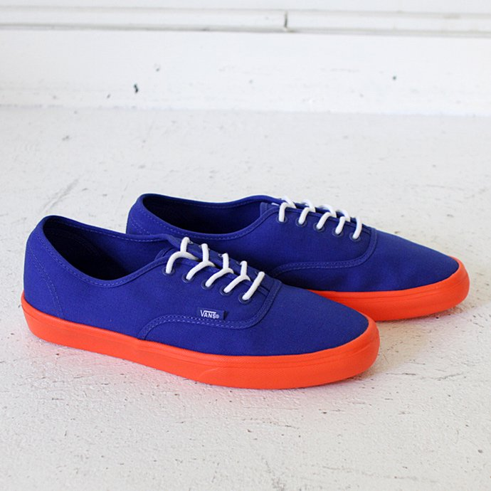 VANS Authentic Lite - Surf the Web Blue/Neon Orange<img class='new_mark_img2' src='//img.shop-pro.jp/img/new/icons47.gif' style='border:none;display:inline;margin:0px;padding:0px;width:auto;' /> 01