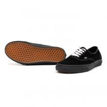 VANS Authentic Suede - Black / White Stitch