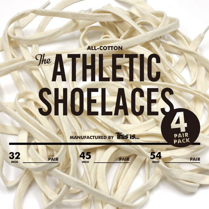 49312053 This is... / All-Cotton Athletic Shoelaces コットンシューレース - 4組パック 01