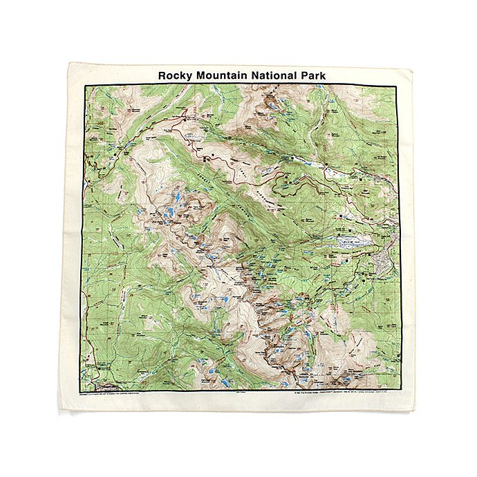 Other Brands The Printed Image / Nature Facts Bandanas - Rocky Mountain National Park ブリンテッドイメージ/ネイチャープリントバンダナ 01