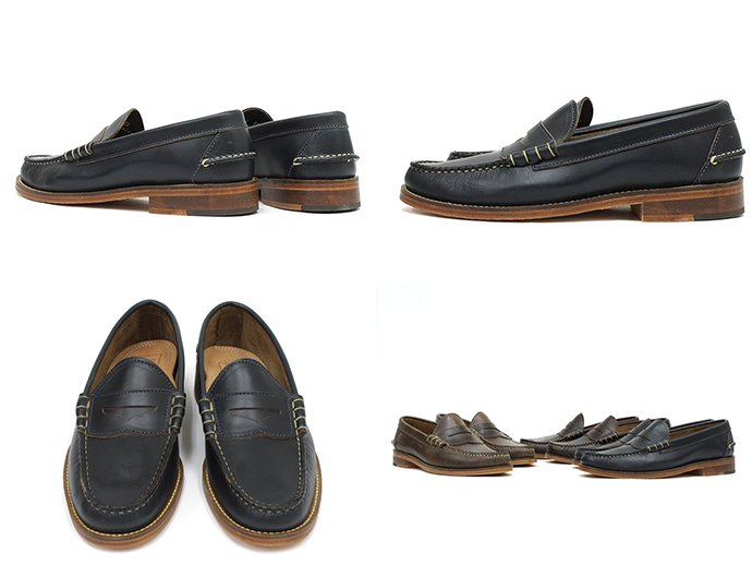 OAK STREET BOOTMAKERS Beefroll Penny Loafer ビーフロールペニーローファー - Navy 02
