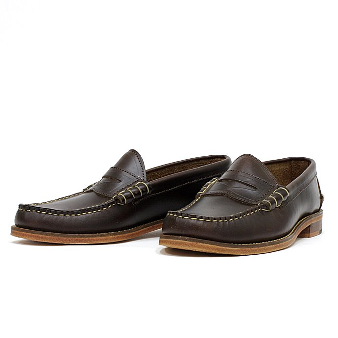 OAK STREET BOOTMAKERS Beefroll Penny Loafer - Brown<img class='new_mark_img2' src='//img.shop-pro.jp/img/new/icons47.gif' style='border:none;display:inline;margin:0px;padding:0px;width:auto;' /> 01