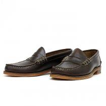 OAK STREET BOOTMAKERS / Beefroll Penny Loafer - Brown