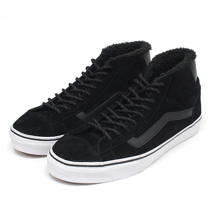 VANS Mid Skool '77 Pig Suede/Fleece Lining - Black<img class='new_mark_img2' src='//img.shop-pro.jp/img/new/icons47.gif' style='border:none;display:inline;margin:0px;padding:0px;width:auto;' /> 01