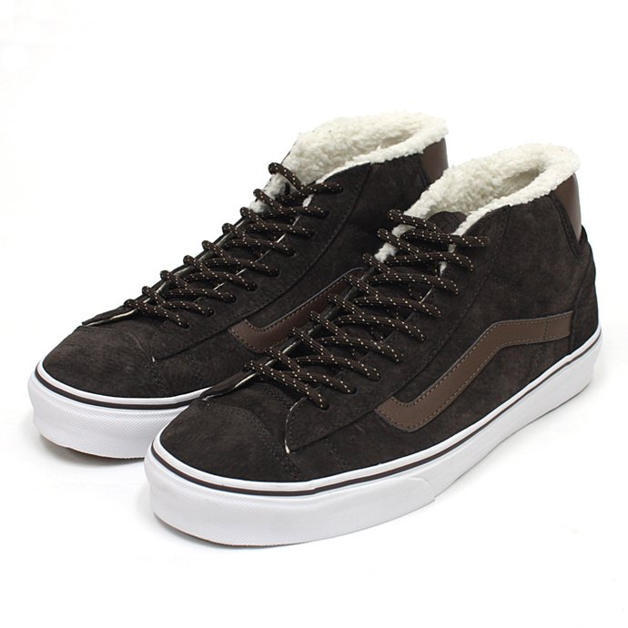 VANS Mid Skool '77 Pig Suede/Fleece Lining - Brown ミッドスクール'77 スウェード ボア ブラウン<img class='new_mark_img2' src='//img.shop-pro.jp/img/new/icons47.gif' style='border:none;display:inline;margin:0px;padding:0px;width:auto;' /> 01