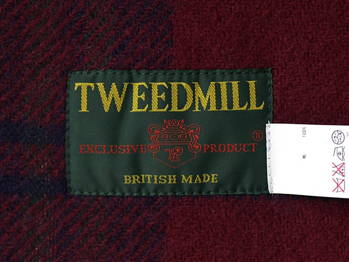 TWEEDMILL TWEEDMILL / ウール チェックブランケット - ワイン<img class='new_mark_img2' src='//img.shop-pro.jp/img/new/icons47.gif' style='border:none;display:inline;margin:0px;padding:0px;width:auto;' /> 02
