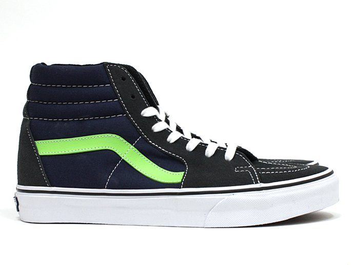 VANS Suede/Canvas Sk8-Hi - Dark Shadow/Green Flash<img class='new_mark_img2' src='//img.shop-pro.jp/img/new/icons47.gif' style='border:none;display:inline;margin:0px;padding:0px;width:auto;' /> 02