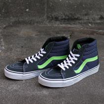 VANS / Suede/Canvas Sk8-Hi - Dark Shadow/Green Flash