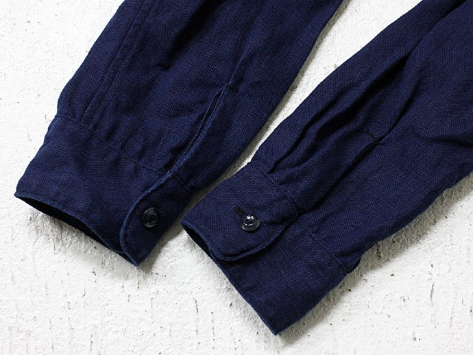 STILL BY HAND インディゴ染め リネンシャツコート - Navy<img class='new_mark_img2' src='//img.shop-pro.jp/img/new/icons47.gif' style='border:none;display:inline;margin:0px;padding:0px;width:auto;' /> 02