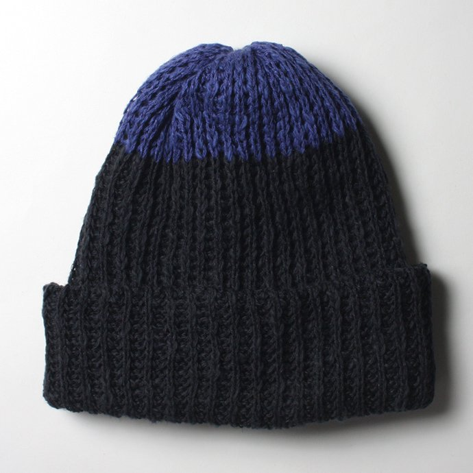 55969536 Hexico / Deformer Knit Cap / Loose, Two-tone, Made in England - Navy<img class='new_mark_img2' src='//img.shop-pro.jp/img/new/icons47.gif' style='border:none;display:inline;margin:0px;padding:0px;width:auto;' /> 01