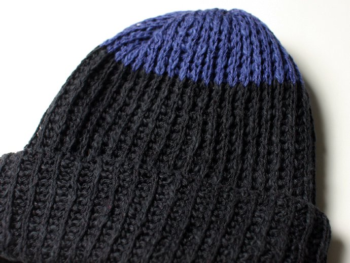 55969536 Hexico / Deformer Knit Cap / Loose, Two-tone, Made in England - Navy<img class='new_mark_img2' src='//img.shop-pro.jp/img/new/icons47.gif' style='border:none;display:inline;margin:0px;padding:0px;width:auto;' /> 02