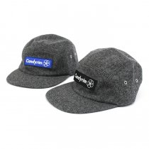 Other Brands Candyrim / Wool 5-Panel Cap - Heather Grey