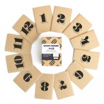 SCOUT BOOKS Numbered Notebooks - Worthe Numerals Box Set