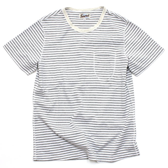 TAURUS Flat Seamed Pocket Tee - Grey<img class='new_mark_img2' src='//img.shop-pro.jp/img/new/icons47.gif' style='border:none;display:inline;margin:0px;padding:0px;width:auto;' /> 01