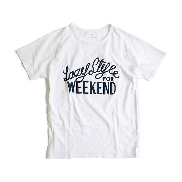STILL BY HAND Lazy Style for Weekend プリントTシャツ - White 01