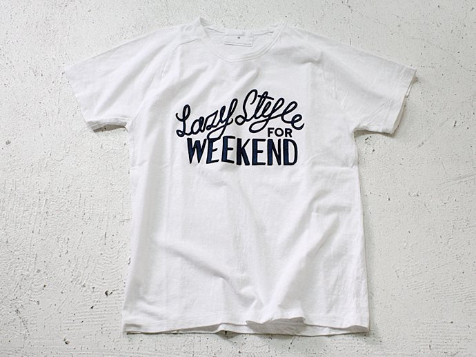 59110816 STILL BY HAND / Lazy Style for Weekend プリントTシャツ - White<img class='new_mark_img2' src='//img.shop-pro.jp/img/new/icons47.gif' style='border:none;display:inline;margin:0px;padding:0px;width:auto;' /> 02