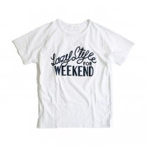 STILL BY HAND Lazy Style for Weekend プリントTシャツ - White