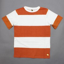 Trad Marks / Wide Stripe Tee - Orange