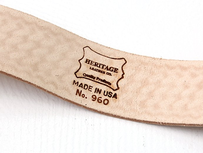 "Other Brands Heritage Leather Co. / 2"" Wide Leather Belt with Roller Buckle<img class='new_mark_img2' src='//img.shop-pro.jp/img/new/icons47.gif' style='border:none;display:inline;margin:0px;padding:0px;width:auto;' /> 02"