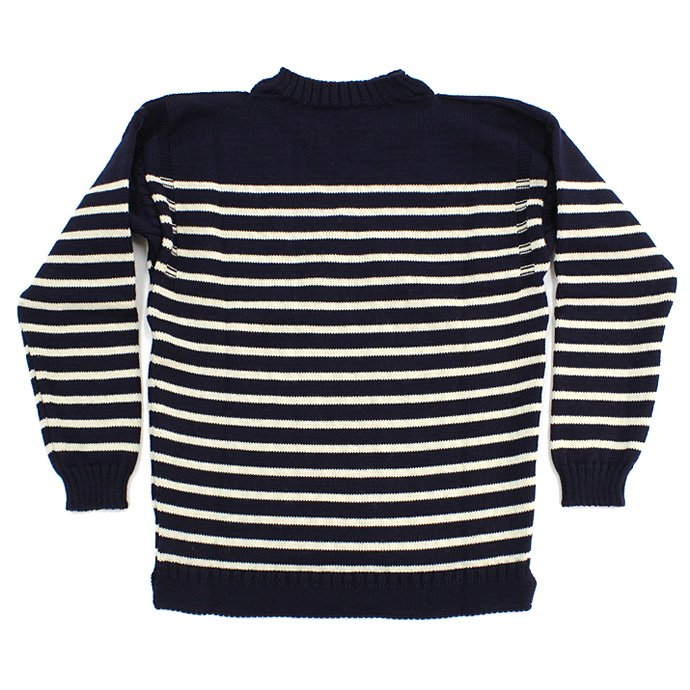 Other Brands Guernsey Woollens / The Traditional Guernsey Sweater - Navy/Ecru ガンジーウーレンズ ガンジーセーター ネイビー/生成 01