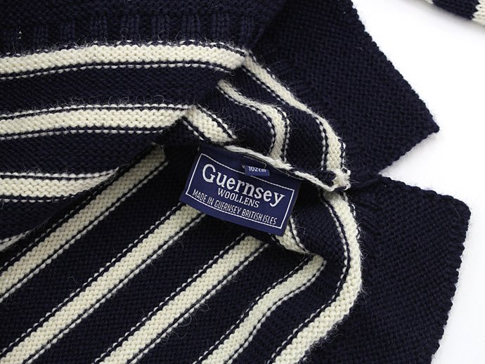 Other Brands Guernsey Woollens / The Traditional Guernsey Sweater - Navy/Ecru ガンジーウーレンズ ガンジーセーター ネイビー/生成 02