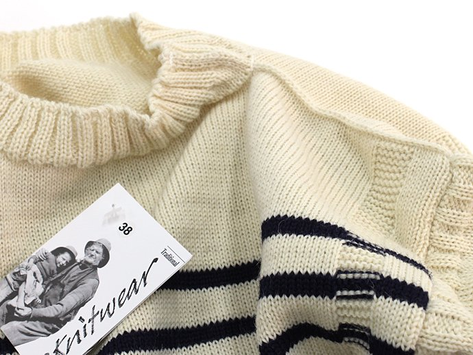 Other Brands Guernsey Woollens / The Traditional Guernsey Sweater - Ecru/Navy ガンジーウーレンズ ガンジーセーター 生成/ネイビー 02