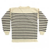Other Brands Guernsey Woollens / The Traditional Guernsey Sweater - Ecru/Navy ガンジーウーレンズ ガンジーセーター 生成/ネイビー