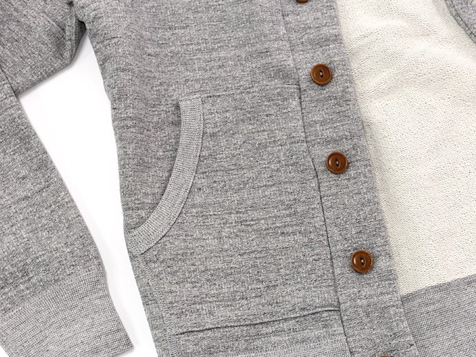 68663191 STILL BY HAND / 度詰めスウェット ショールカラーカーディガン - Grey<img class='new_mark_img2' src='//img.shop-pro.jp/img/new/icons47.gif' style='border:none;display:inline;margin:0px;padding:0px;width:auto;' /> 02