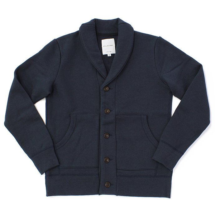 68663276 STILL BY HAND / 度詰めスウェット ショールカラーカーディガン - Navy<img class='new_mark_img2' src='//img.shop-pro.jp/img/new/icons47.gif' style='border:none;display:inline;margin:0px;padding:0px;width:auto;' /> 01