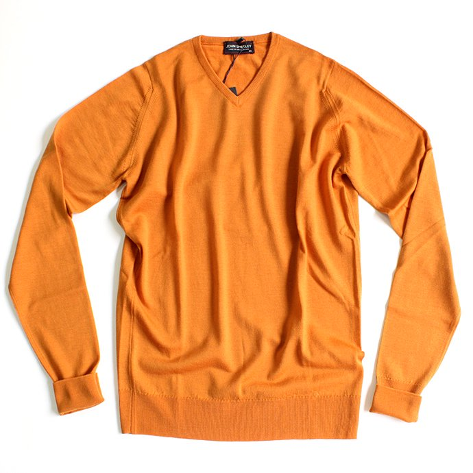 Other Brands JOHN SMEDLEY / BOWER Vネックセーター - Butternut Squash 01